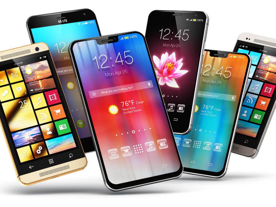 5台のiPhone